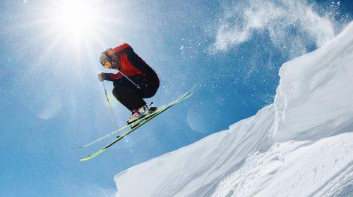 skier jumps